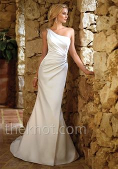 Gown features beading and Diamante crystal.