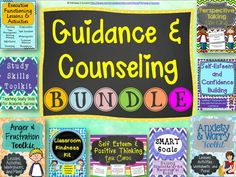 This is a huge mega bundle ideal for guidance counselors, school counselors, and school psychologists looking to get all of their materials in one place. It focuses on academic skills, study strategies, anger management skills, confidence building, perspective taking, developing goals, and encouraging kindness to others.