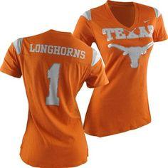 Fanzz Sports Apparel,Texas Longhorns Nike NCAA Women's Replica T-Shirt NFL, NBA, MLB Apparel, NFL, MLB, NBA Jerseys and Merchandise, NHL Shop | Fanzz
