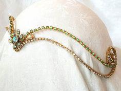 Green & Gold Diadem  Elven  Sylvia    Goddess  Fairy
