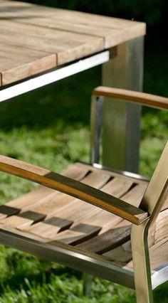Gartenstuhl Aus Edelstahl Und Teak   Diamond Garden Treviso Stapelsessel.  Mehr Gartenstühle Aus Edelstahl Und