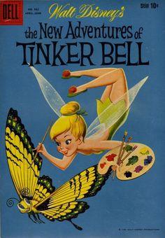 Walt Disney's The New Adventures of Tinker Bell comic book, 1959 Tinkerbell And Friends, Peter Pan And Tinkerbell, Tinkerbell Fairies, Peter Pan Disney, Disney Fairies, Disney Dream, Disney Love, Disney Magic, Disney Art