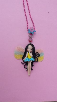 Fairy necklace in fimo, polymer clay