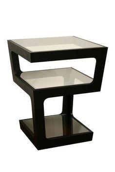Wholesale Interiors: Clara Black Modern Tall 3-Tiered End Table on @HauteLook $179