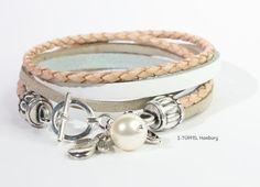 Bracelet PURE nature  Engel und Perle  No 131211 von  I-Tüpfel®   auf DaWanda.com