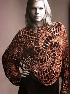 Veronica crochet and knitting ...: shawl; short brown top