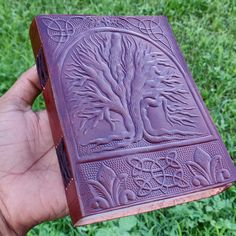 Christmas Sale Tree Of Life Embossed Leather Journal With Cotton Papers inches by TheThirdEyeTreasures on Etsy Handmade Sheet, Handmade Items, Handmade Gifts, Small Journal, Eco Friendly Paper, Journal Paper, Paper Cover, Leather Journal, Handmade Leather