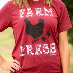 One of our exclusive designs! Created on a super soft unisex tee All proceeds for this tee go towards Pshigoda Girl's Farm Livestock Conservancy efforts. We also run a full farm and take great pride in raising heritage breeds that are in danger o. Travel Must Haves, Funny Tees, Summer Tops, What To Wear, Graphic Tees, Makeup Junkie, Fresh, Shirts, God's Grace