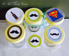 #quirky #moustache #cakejars #atyummy