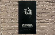 "Kreator gig poster by Lars Krause 13.5""x25.5"" Artist Proof"