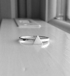 Triangle Ring Sterling Silver Triangle Ring by GirlBurkeStudios, $20.00