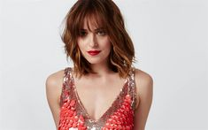Download wallpapers 4k, Dakota Johnson, 2017, Hollywood, Marie Claire, beauty, brunette, beautiful woman