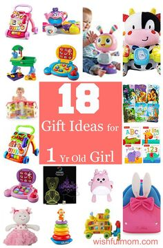 Gift ideas for a one year old girl