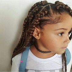 Braids African American child little girl