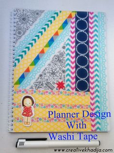 Learn How To decorate a plain diary/planner cover with some pretty washi tapes & mod podge. see the step by step tutorial here; http://creativekhadija.com/2014/05/design-planner-cover/