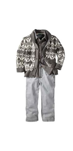 OshKosh Boy's Outfit with Isle Cardigan - Target Holiday Look Book Sneak Peek: 25 Best Styles for the Family