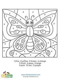 Butterfly Color By Number Worksheets Adult Color By Number, Color By Number Printable, Printable Numbers, Color By Numbers, Number 10, Free Printable, Animal Worksheets, Number Worksheets, Worksheets For Kids