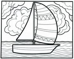 It's a smoooooth sailboat coloring book page from our classic Let's Doodle book! This Educational Insights fave is a much-requested product by parents and teachers. Free printable, just for you! #printables #coloringpages