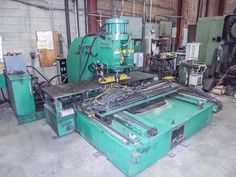 """Fabricating Equipment Online Auction: Highlights Include: A Controlled Automation CNC Plate Punch Model: 24t-175, Cincinnati 10' Press Brake S/N: 26960, 50 Ton Capacity, Niagara 12' Shear S/N: 5530, Pacific 400 Ton Hydraulic Press Brake S/N: C1307, 2000 Cosen """"H"""" Frame Horizontal Bandsaw Model: C: 7652nc, 1987 Amada Horizontal Bandsaw Model: Ha-16s, Miller, Lincoln & Linde welders and several Linde wire feeders."""