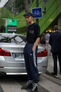"meoutfit : meoutfit # 1736 ""Adidas Track Pants - Paris"""