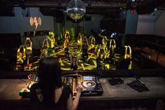 Deep House Yoga  at Verboten nightclub in Brooklyn.