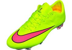 Nike Mercurial Vapor X FG Soccer Cleats - Volt and Pink...grab a pair right now!