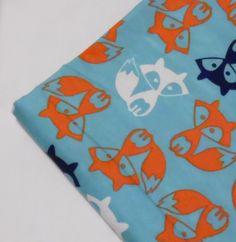 Baby Blanket Handmade Fox Flannel Personalized Blanket Baby Shower Gift Stroller Blanket by RaedasSunshine on Etsy https://www.etsy.com/listing/222209204/baby-blanket-handmade-fox-flannel
