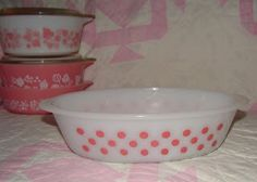 Farm Girl Pink....: More Glasbake.... the dots!