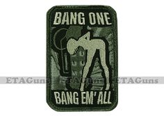 MilSpec BANG ONE BANG EM' ALL ACU Army Tactical Military Combat Morale Patch