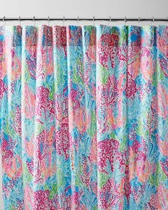 Lilly Pulitzer® Sister Florals Shower Curtain. Letu0027s Cha Cha Or Sippin And  Trippin