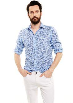 H.E. BY MANGO -  SLIM-FIT FLORAL LINEN-BLEND SHIRT #SS14 #Menswear