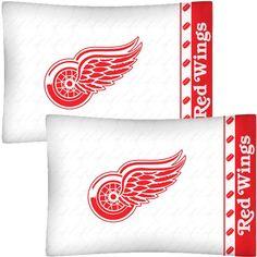 NHL Detroit Redwings Hockey Set of 2 Logo Pillow Cases contemporary-kids-bedding Kids Bedroom Organization, Red Wings Hockey, 2 Logo, Detroit Red Wings, Nhl, Pillow Cases, Just For You, Pillows, Bedding