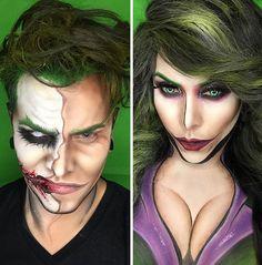 makeuphall: GALLERY: Argenis Pinal turns himself into superheroes with nothing but makeup. Cartoon Makeup, Joker Makeup, Male Makeup, Makeup Art, Beauty Makeup, Funny Makeup, Makeup Style, Superhero Makeup, Superhero Cosplay