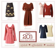 Sister Missionary Fashion website - Great great site for Modest cute clothes