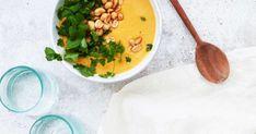 Täyteläisyyttä maapähkinävoista, raikkautta appelsiinimehusta. Lämmin keitto toimii myös talviretkellä, termarista annosteltuna.