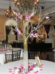 Branches, crystals and orchids...so dramatic!