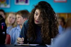 Lorde judging her old school's singing competition yesterday Photo by Sarah Ivey