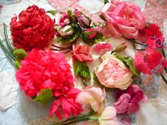 pretty pink millinery flowers