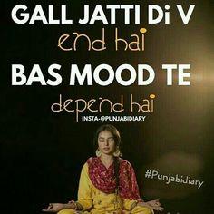 Punjabi Attitude Quotes, Punjabi Love Quotes, Attitude Quotes For Girls, Good Thoughts Quotes, Swag Quotes, Love Song Quotes, Mood Quotes, Happy Quotes, Desi Quotes