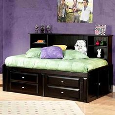 Laguna Twin Roomsaver Bed by Trendwood - Easylife Furniture - Captain's Bed Full Bed With Storage, Daybed With Storage, Platform Bed With Storage, Storage Beds, Storage Drawers, Kids Bedroom Sets, Kids Bedroom Furniture, City Furniture, Bedroom Ideas