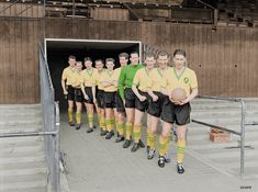 The team went on a great FA Cup run that season reaching the semi-final. Colourised by George Chilvers. Norwich City Football, Norwich City Fc, Laws Of The Game, Group Poses, Association Football, Most Popular Sports, Retro Football, Uk Photos, Football Program