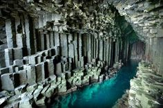 Fingal's Cave is located on the uninhabited rock island of Staffa, off the West coast of Scotland.