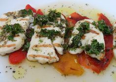 Halloumi and Roasted Peppers