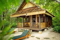 Have A Private Island All To Yourself With These 16 Rentable Estates Hut House, Tiny House Cabin, Style At Home, Cabana, Bamboo House Design, Beach Houses For Rent, Jungle House, Bamboo Architecture, Beach Bungalows