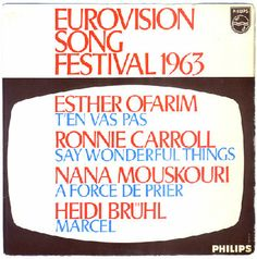 Special EP Eurovision Song Contest 1963 with the songs from Switzerland, United Kingdom, Luxembourg and Germany