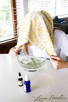 DIY aromatherapy facials.