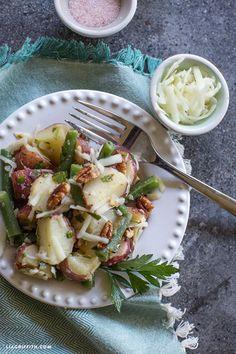potato salad with pecans and green onion roasted potato and green bean ...