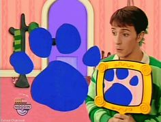 The snail behind the coat hanger appears in every episode of Blue's Clues. They do the EXACT same thing with Adventure Time.