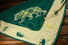 Dapper Bears - The Official Baylor Plaid - Baby blanket