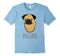 Men's Pug T Shirt Pug Tee Shirt Pugtato Pug Potato T-Shir...